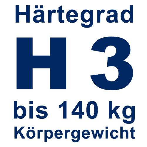 Gigapur 24390 G18 Matratze | 7-Zonen Kaltschaummatratze H3 | Premium Schaumstoff-Matratze mit Klimaband | 180 x 200 cm -