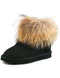 Shenduo Zapatos Invierno Clásicos - Botas de Nieve de piel oveja con lana interno para Mujer D8751