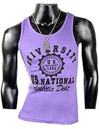 Herren Tanktop Tank top Muskelshirt Fitness T shirt Achselshirt University