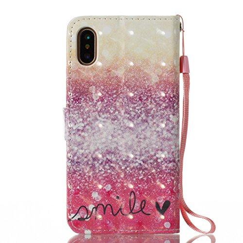 iPhone X Custodia, JEPER Pu Pelle Portafoglio Bookstyle Flip Cover Stand Case con chiusa Magnetica Protettiva in pelle per Apple iPhone X 06