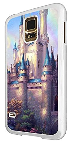 003078 - Beautiful castle chateau painting Design For Samsung Galaxy S5 / S5 Neo Fashion Trend CASE Back COVER Plastic&Thin Metal - White