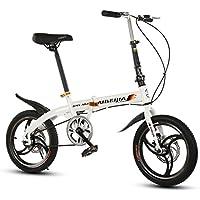 YEARLY Bicicleta plegable estudiante, Bicicleta plegable Ocio Hombres y mujeres Frenos de disco de tipo