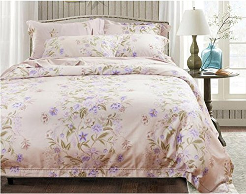 Neue Bettwäsche Bettwäsche Seide vier Sätze von Bettwäsche, Eis Seide glatte nackte Bett Sätze von vier Sätze von Bettwäsche (Twin Rüschen-bett-satz)