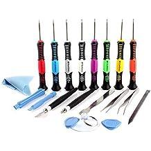 Neuftech® 20in 1kit di cacciavite strumenti apertura smontaggio riparazione per iPhone 45s 6Samsung S4S5Tablet Smartphone iPad Macbook