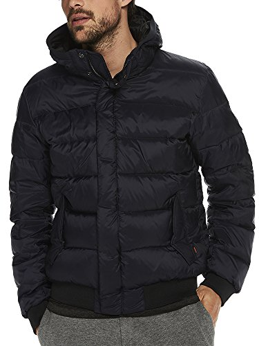 Scotch & Soda Herren Jacke Puffer Jacket, Blau (Night 0002), Large (Gesteppte Nylon-bomber-jacke)