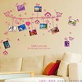 XPY-wall sticker Wandtattoos wandaufkleber Wandbilder Tapeten Wandsticker-Kreative Foto Wand Aufkleber Wasserdicht Bilderrahmen Rosa Liebe