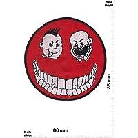 /Smiley Spur von Blut/ Ecusson-Patches Aufnaher Toppa/ /zum Aufb/ügeln