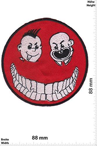 Parches - Smiley Red - Punk -Punks - No Nazi - Punk - Parche...
