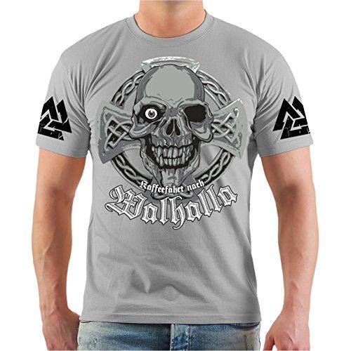 Männer und Herren T-Shirt Kaffeefahrt nach Walhalla Größe S - 8XL