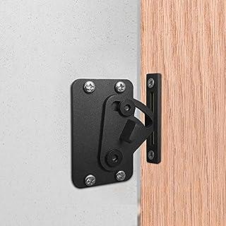 Edelstahl Schloss für Schiebetüren Holz Barn Scheunentor - Black door lock for sliding barn wood door