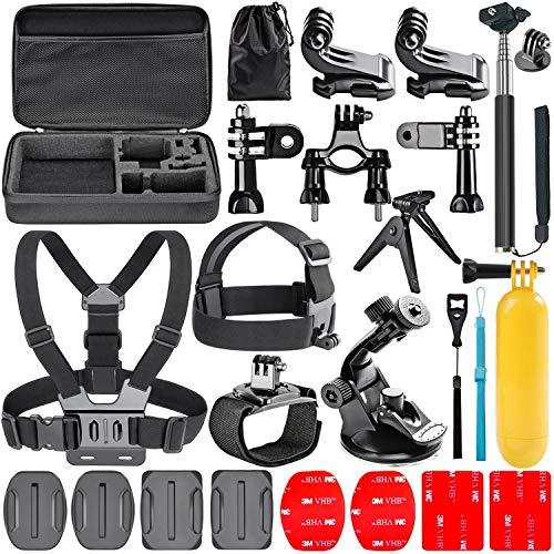 Navitech 18 in 1 Action Kamera Zubehör Combo Kit mit Eva Case für die YI 4K+ Action Camera