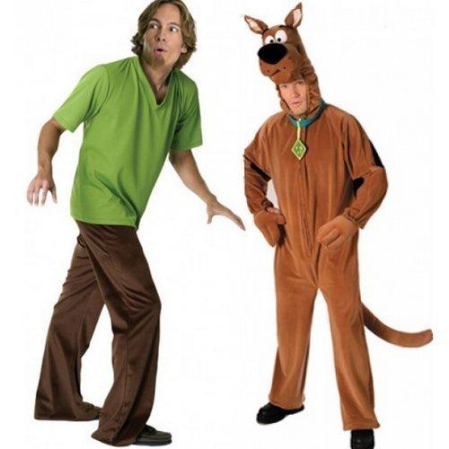 Männer und Pärchen Shaggy Scooby Doo 1960s Hirsch Do 60er TV Film Kostüm (Doo Scooby Outfits)