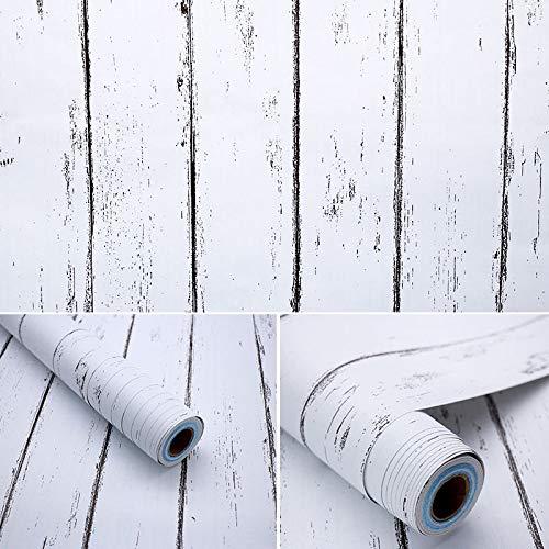 Selbstklebende Nachahmung Holzmaserung Nachahmung Möbel Kleiderschrank renoviert Aufkleber Türen und Fenster selbstklebende Tapete Kunst Schlafzimmer Küche Bad nordischer weißer Ahorn / 45 cm * 10 m (Renoviert, Schlafzimmer-möbel)