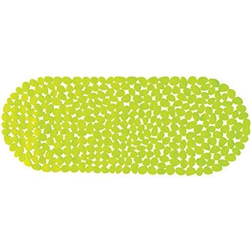 MSV 2108474Teppich Pebbles, Badewanne grün 39x 99cm