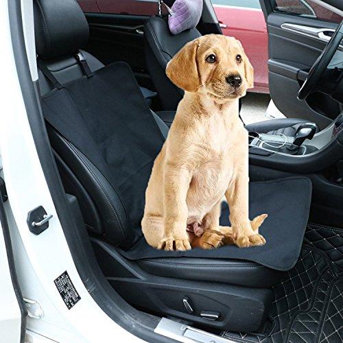 FineInno Auto Schondecke Wasserdicht Haustier Sitzabdeckung Kofferraumdecke (Einzelsitz Schwarz)