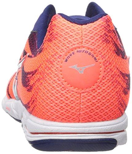 Mizuno Wave Hitogami 3 Synthétique Baskets Orange-Blue-Silver