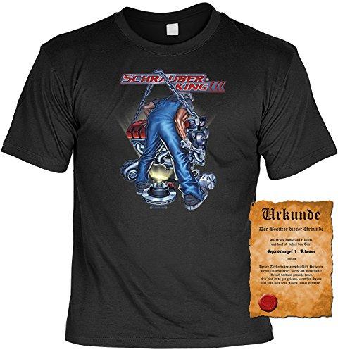 Biker Motorrad Motiv T-Shirt :-: mit Urkunde schwarz-12