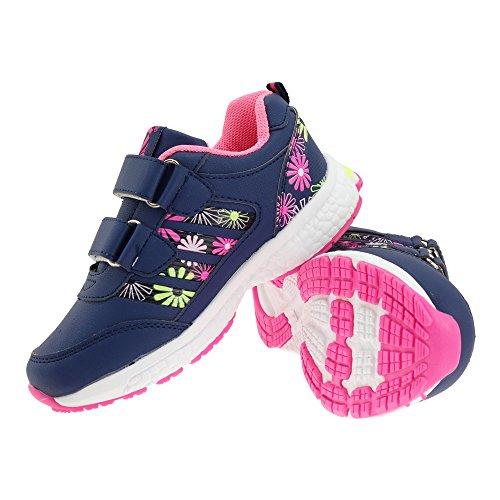Floral Sapatos Meninas Azuis Padrão Gallux Sapatilha Crianças wXqTaBt