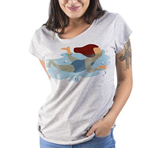T-Shirt SWIMMING - Marinetti by Mush Grigio