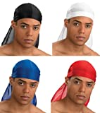 Purecity, 4 Bandanas, US Durag, schwarz, weiß, rot, blau, Gangsta Rap, Hip Hop, West Coast, USA , Biker, Outdoor
