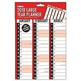 2018gran año soporte de pared planificador familia organizador de oficina de enero–diciembre 84cm x 60cm)
