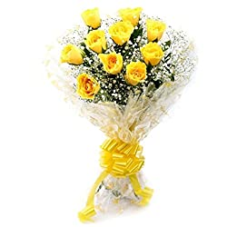 Flower Co Hand Bunch Bouquet (Yellow Red)