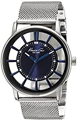 Kenneth Cole Transparency Analog Blue Dial Mens Watch KC9207
