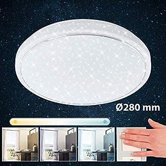 Briloner Leuchten Plafoniera a LED con Design a Stella con Anello Cromato