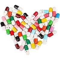Romote 50 PC mensaje de una carta de la cápsula de la botella píldora lindo regalo Amistad Amor Color (envía al azar)