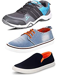 Scatchite All In One Pack Of 3 Footwear-Sports Shoes,Casual Shoes,Loafers
