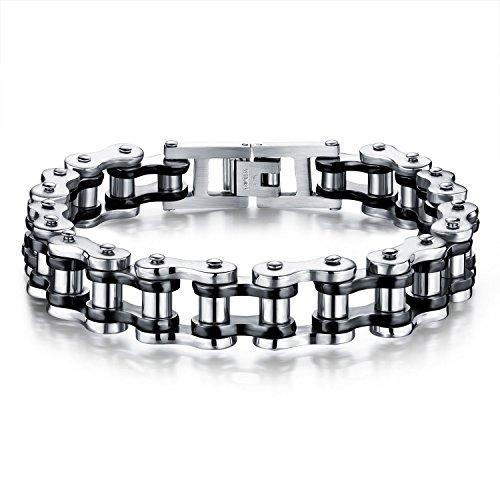 men-bicycle-bracelet-cool-black-silver-stainless-steel-motorcycle-biker-link-chain-bracelet-wristban