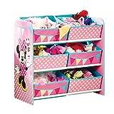 Minnie Mouse - Regal zur Spielzeugaufbewahrung mit sechs Kisten für Kinder