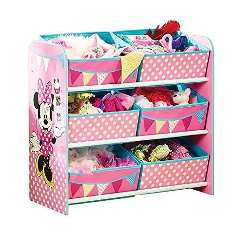 Minnie Mouse 471INN Meuble de rangement pour Chambre d'enfant avec 6 Bacs Polyester 30 x 63,5 x 60 cm