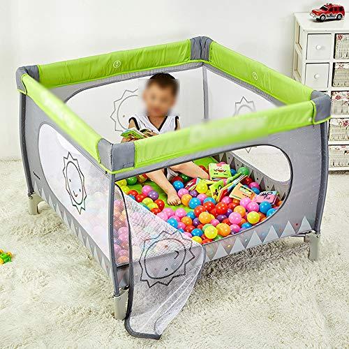 -Laufstall, Tragbarer Playard-Spielbereich für Kleinkinder und Kleinkinder Im Aktivitätscenter mit Kissen - Grün/Farbe (kostenlose Installation und Zusammenlegung) Baby-Geschenk ()