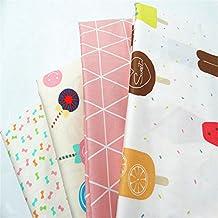 Fuya 40cm * 50cm * 4pieces Cartoon de sarga algodón tela PATCHWORK gamuza de tejido a mano DIY acolchar costura Material de vestido de bebé y niños hojas