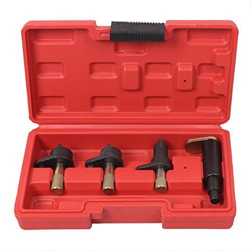 Todeco – Kit d'Outils pour Volkswagen, Outils de Synchronisation pour Moteur – Marques compatibles: Moteurs VW Polo 1.2L 2-3 Cylindres 6/12V, VW Fox 1.2L 2-3 Cylindres 6/12V, Skoda Fabia 1.2L 2-3 Cylindres 6/12V, SEAT Ibiza 1.2L 2-3 Cylindres 6/12V, SEAT Cordoba 1.2L 2-3 Cylindres 6/12V – Dimensions: 22 x 12 x 6 cm – 4 pièces, avec une mallette rouge