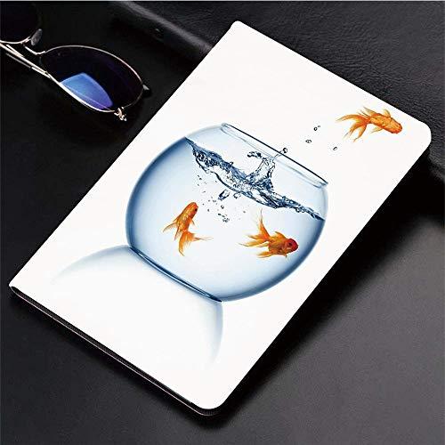 Kompatibel mit 3D-gedruckter iPad 9.7-Hülle,Aquarium, Goldfisch springen aus dem Goldfischglas Freedom Es,Leichtes Anti-Scratch-Shell Auto Sleep/Wake,Rückseite Schutzabdeckung iPad9.7