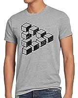 style3 Sheldon Cube Herren T-Shirt dreieck escher