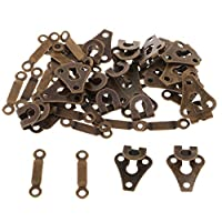 IPOTCH 20 Sets Copper Sew-on Sewing Hook & Bar Closures Dress Skirt Tunic Fasteners