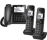Panasonic KX-TGF323E Corded and Cordless Nuisance Call Block Combo Telephone Kit - Trio