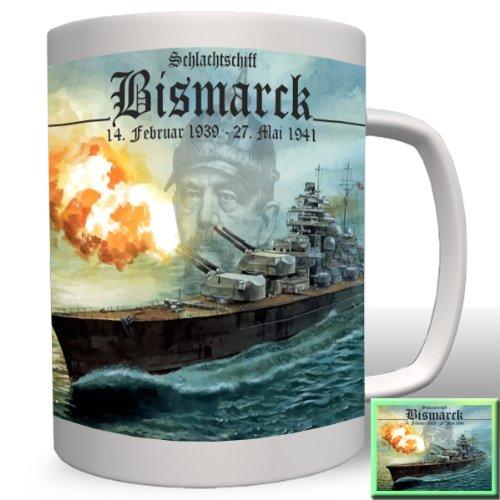 Schlachtschiff Bismarck Klasse Otto Schiff Militär Marine Gemälde Portrait -Tasse Kaffee Becher #824a