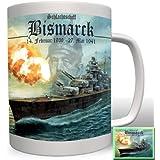 Aufkleber Sticker Bismarck Schlachtschiff Marine Militär Schiff 7x6cm A941 Auto