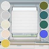Victoria M. Plissee Klemmfix ohne Bohren EasyFix, Größe: 65 x 150 cm, Farbe: weiss