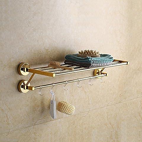 Barre de serviette de salle de bain en acier inoxydable Serviette de bain étagère murale à suspendre de style contemporain Porte-serviette Serviette Rack?