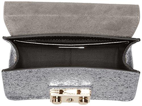 FURLA - Metropolis Mini Crossbody, Borsa a tracolla donna Silver (Color Acciaio)