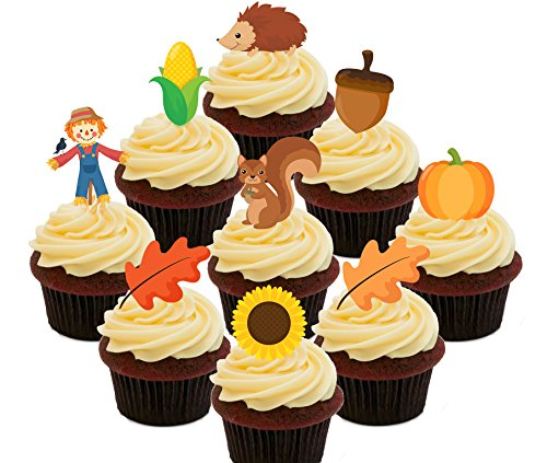 Pack-Essbare Cupcake Topper-Stand-Up Wafer Kuchen Dekorationen, Pack of 72 ()