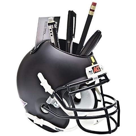MARYLAND TERRAPINS NCAA Schutt MINI Football Helmet OFFICE PEN/PENCIL/BUSINESS CARD HOLDER (MATTE BLACK) by Schutt