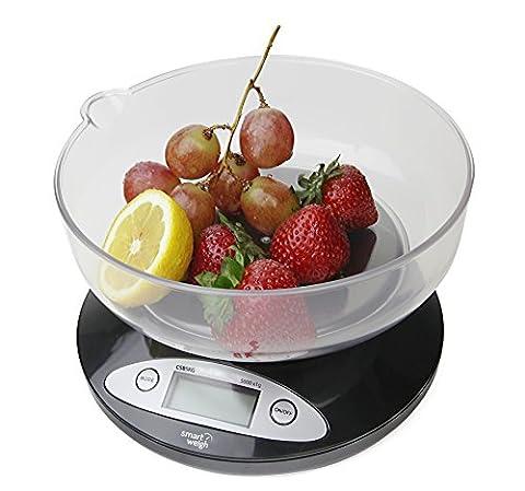 Smart Weigh CSB5KG Digitale Küchenwaage mit austauschbarer