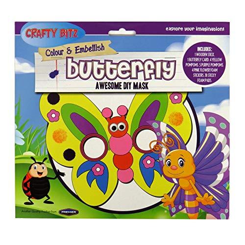 Crazy Bitz Lot de Masques Papillons à Faire soi-même