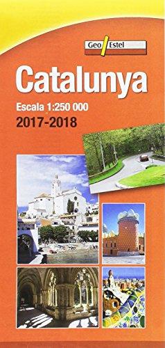 Catalunya 2017-2018: Mapa de carreteres Escala 1:250.000 por Institut Cartrogràfic de Catalunya